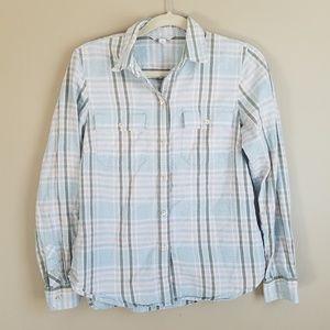 L.L. Bean Signature Flannel Shirt size 6